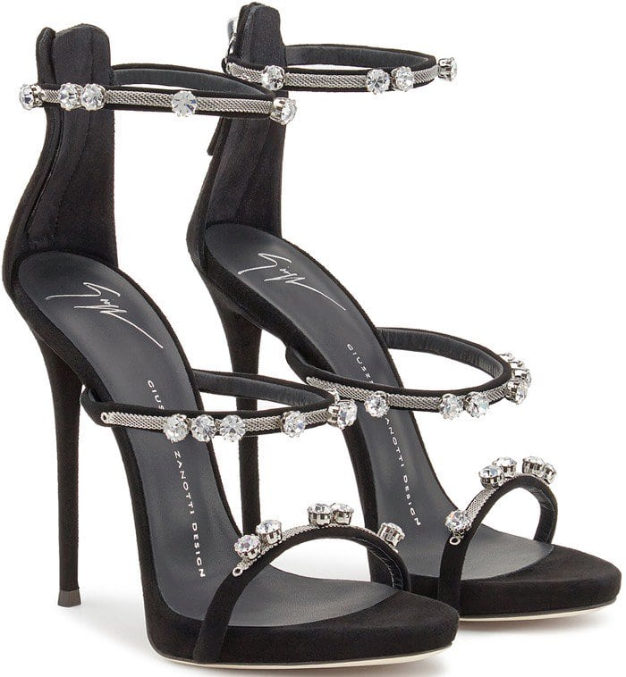 Giuseppe Zanotti Strappy Sandals Black