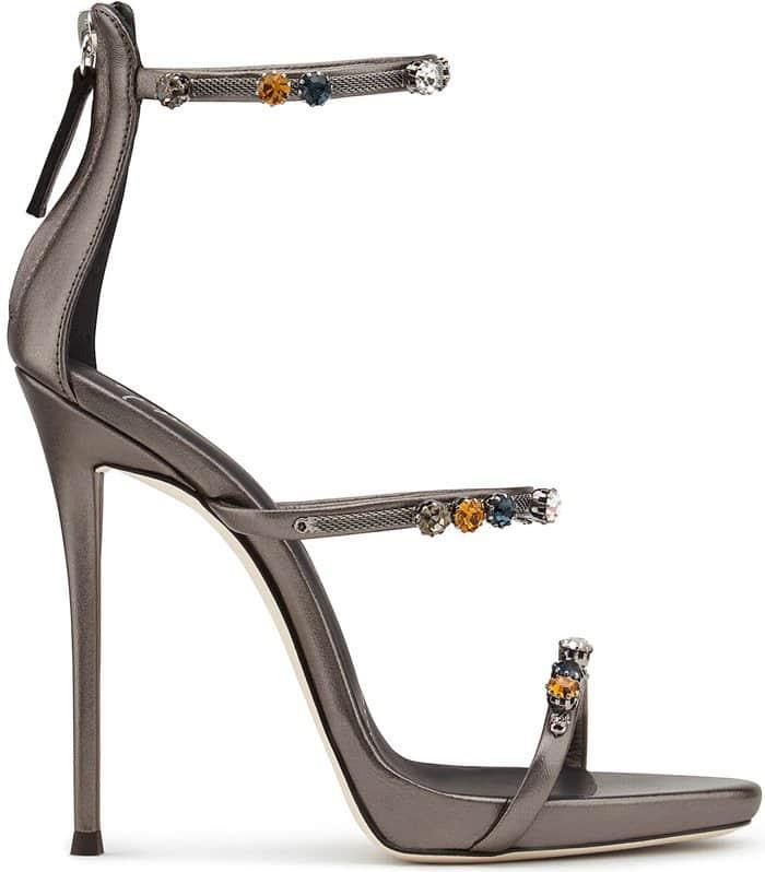 Giuseppe Zanotti Strappy Sandals Grey