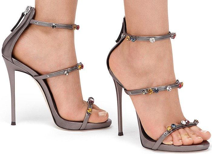 Giuseppe Zanotti Strappy Sandals in Grey