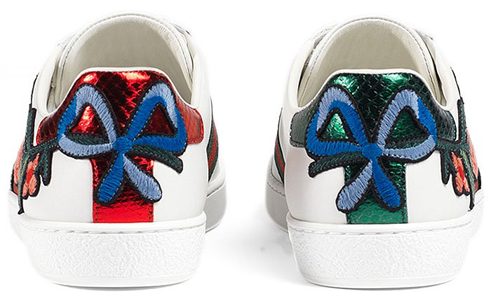 Gucci New Ace floral embroidered sneakers 1