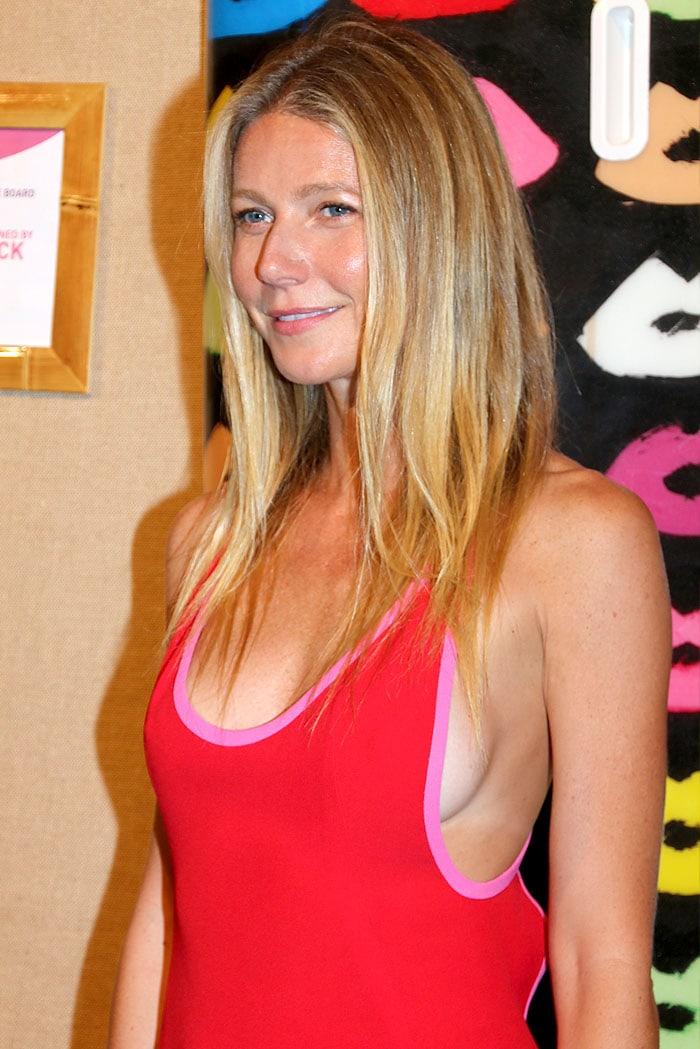 Gwyneth Paltrow Shows Sideboob In Gianvito Rossi Crissy