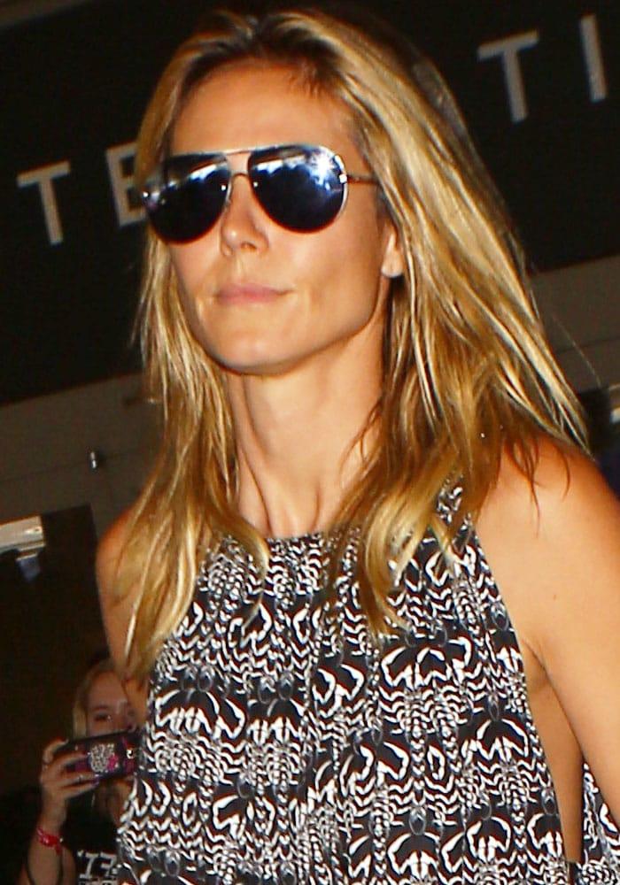Heidi Klum LAX Saint Laurent Espadrilles 1