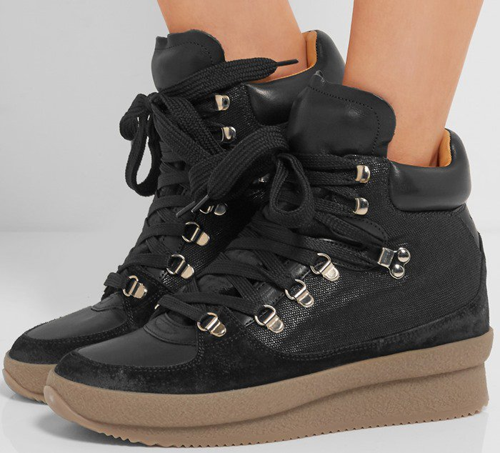 Isabel Marant Brent suede, leather and canvas sneaker