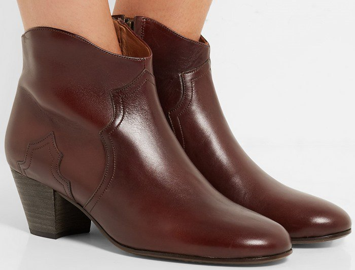 Isabel Marant Etoile Dicker leather ankle boot