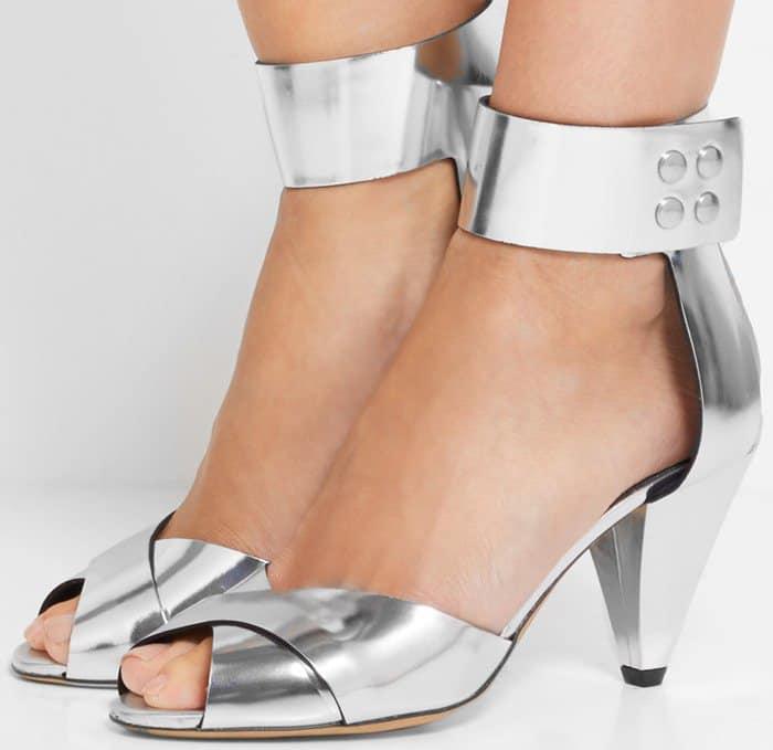 Isabel Marant Etoile Meegan metallic leather sandal