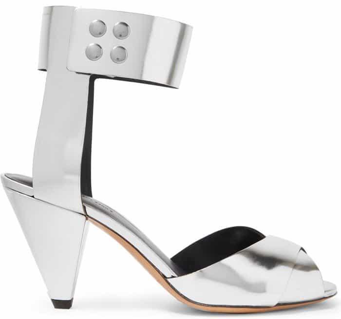 Isabel Marant Etoile Meegan metallic leather sandals
