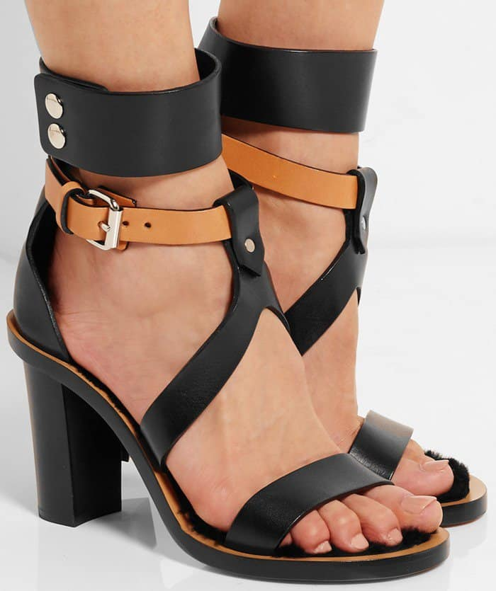Isabel Marant Jenyd shearling-lined leather sandal