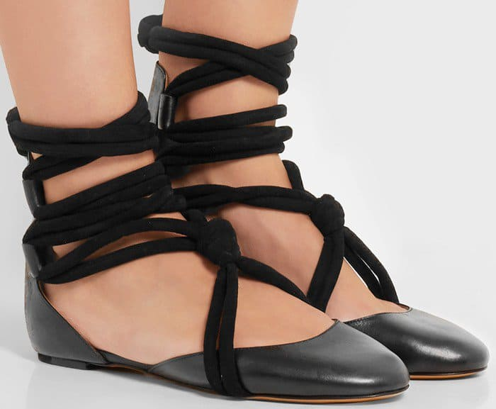 Isabel Marant Lois lace-up leather ballet flat