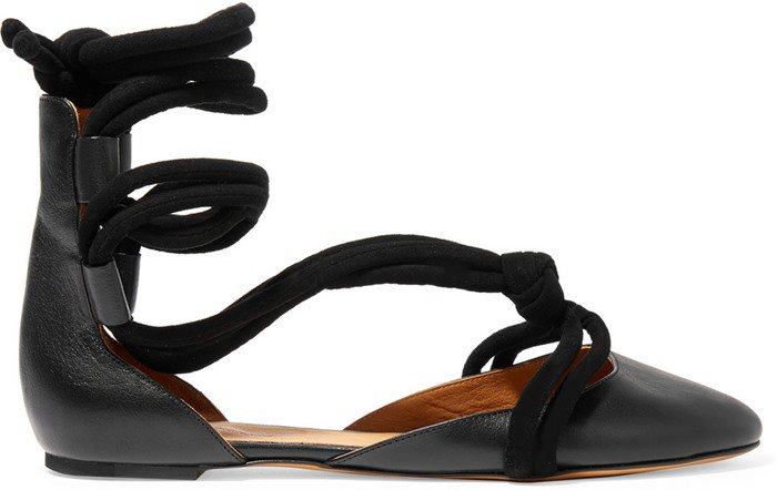 Isabel Marant Lois lace-up leather ballet flats