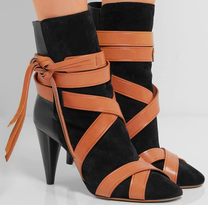 Isabel Marant Nola suede and leather ankle boot