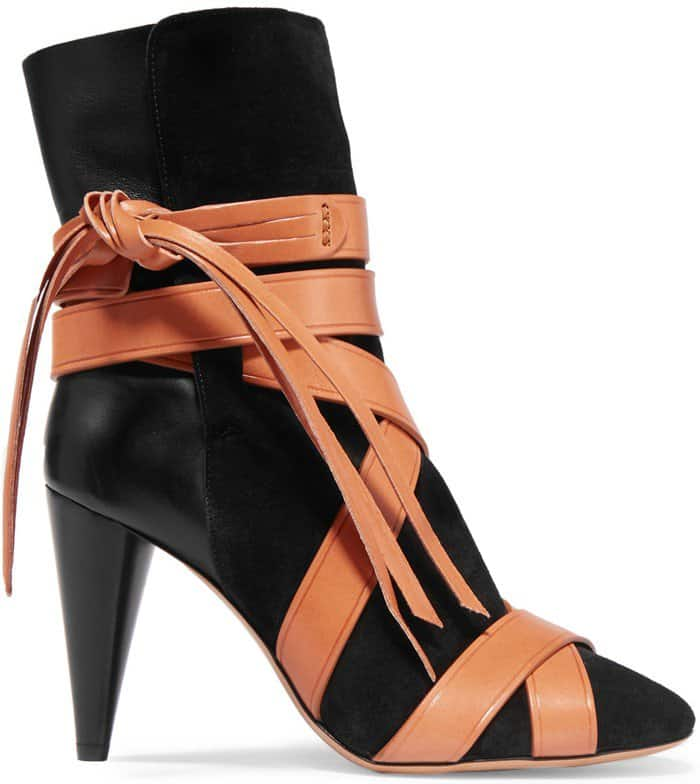 Isabel Marant Nola suede and leather ankle boots
