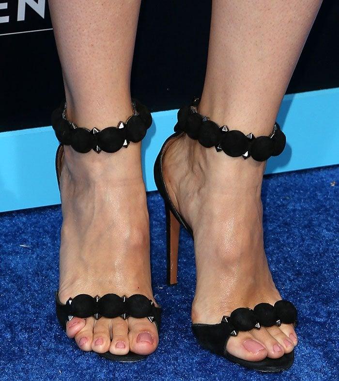 Jennifer-Garner-Alaia-studded-suede-sandals