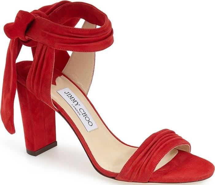 Jimmy-Choo-Kora-Red-Suede-Sandals