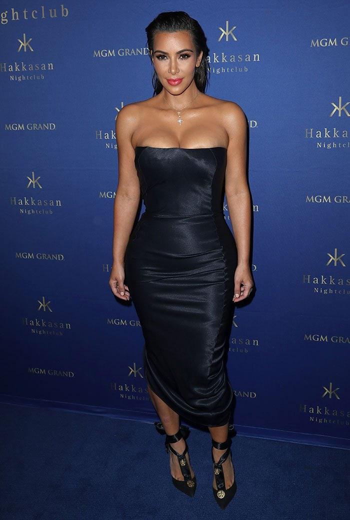 Kim Kardashian hosts a party at Hakkasan Las Vegas Nightclub at MGM Grand Hotel & Casino in Las Vegas on July 22, 2016