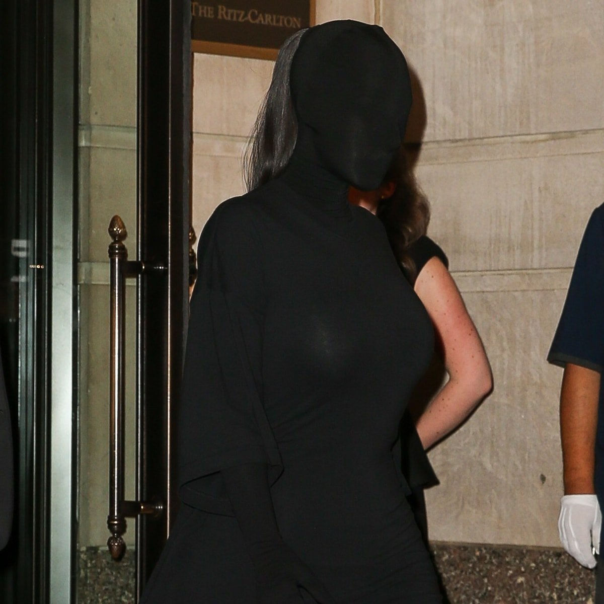 Kim Kardashian covered up every inch of skin in a burqa-inspired look by Balenciaga