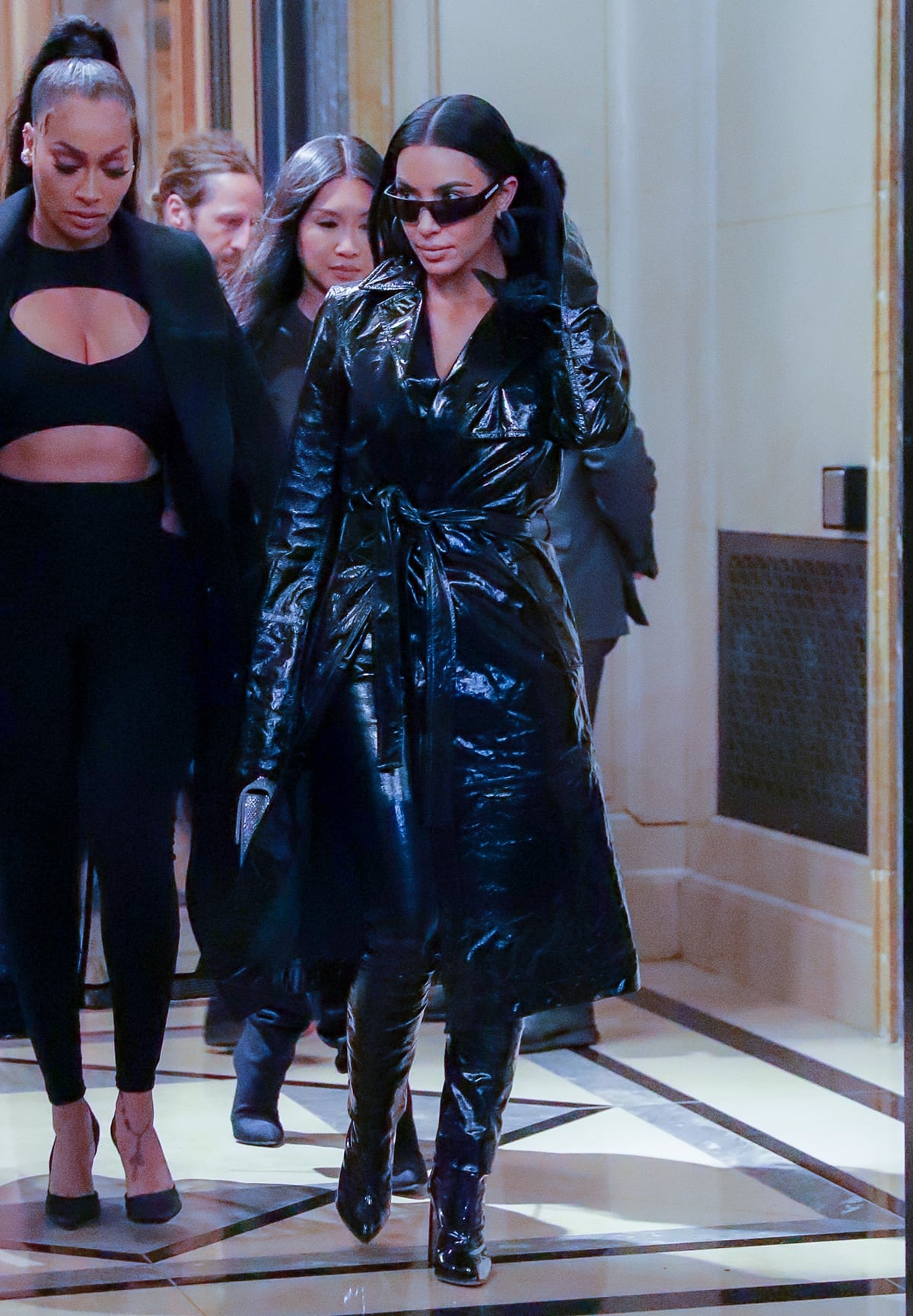 Kim Kardashian leaves her hotel in NYC with her good friend Lala Anthony