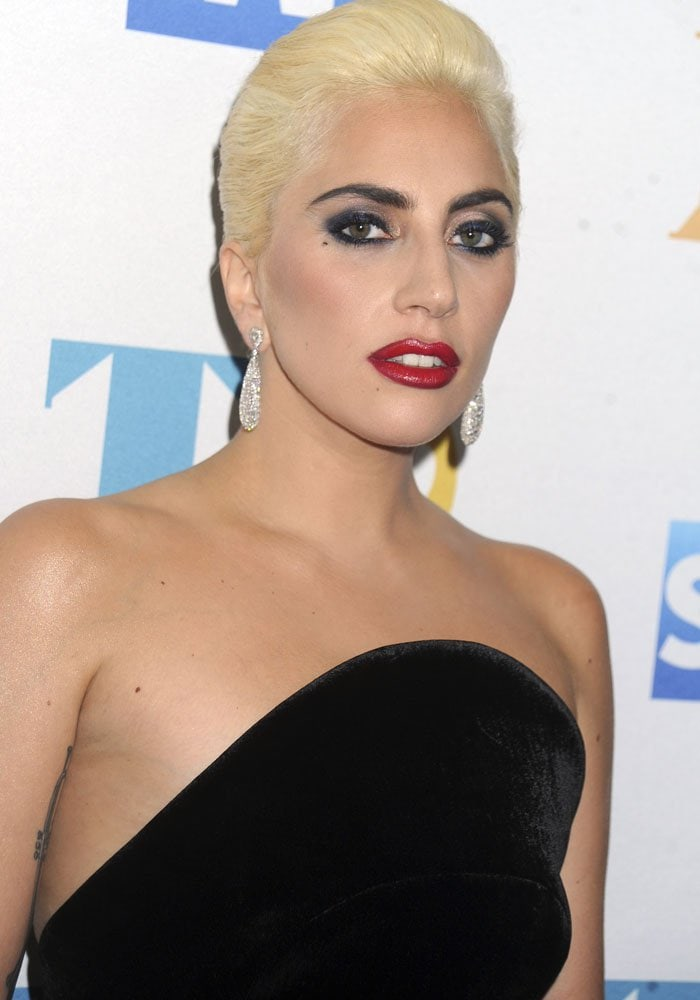 Lady Gaga at the iHeartMedia event honoring 90 years of iconic music from Tony Bennett in New York City on August 3, 2016