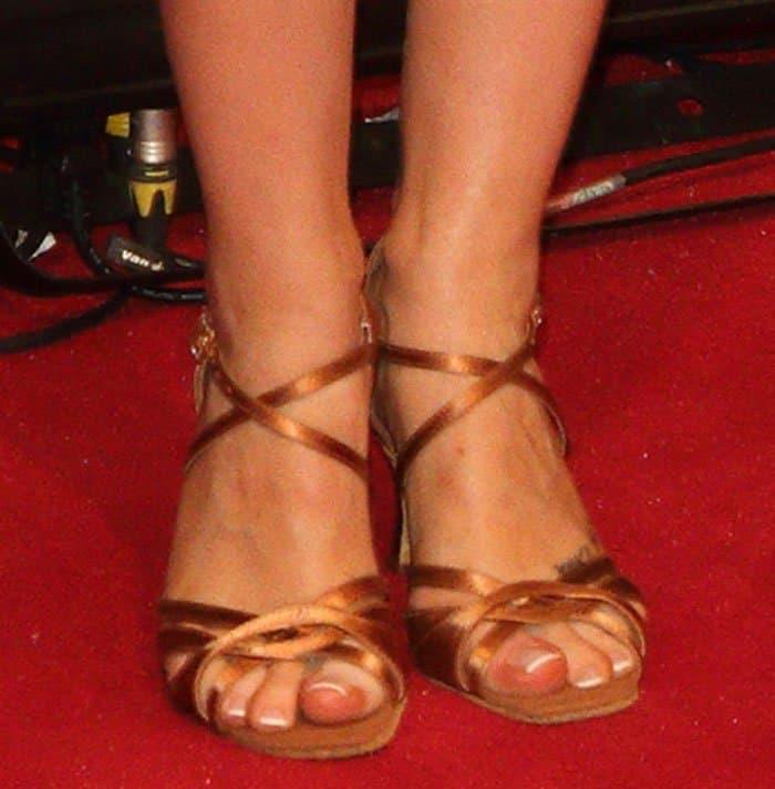 Laura-Whitemore-bronze-strappy-heels