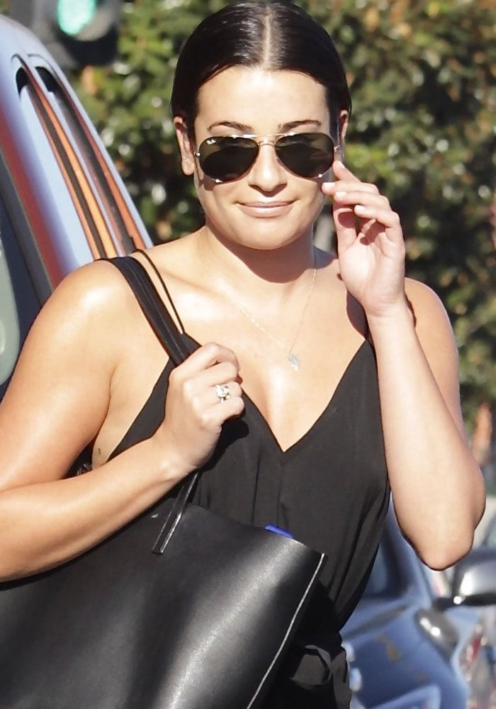 Lea Michele Massage Aquazzura 1