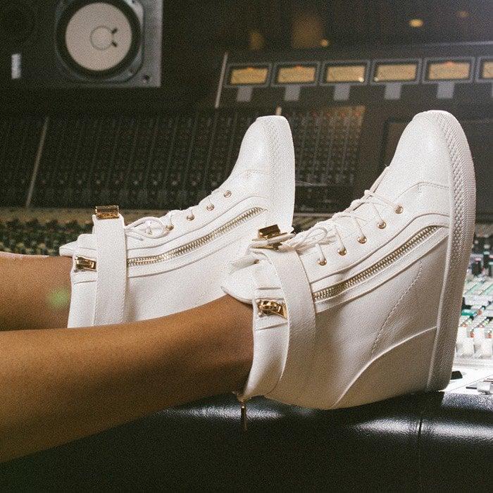 Turnlock Detail 'Minerva' Wedge Sneakers