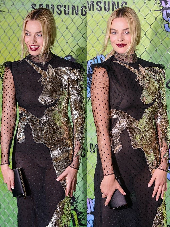 Margot Robbie Suicide Squad world premiere