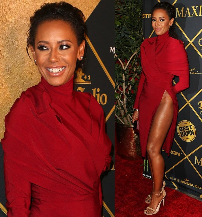 Mel-B-red-hip-high-slit-dress