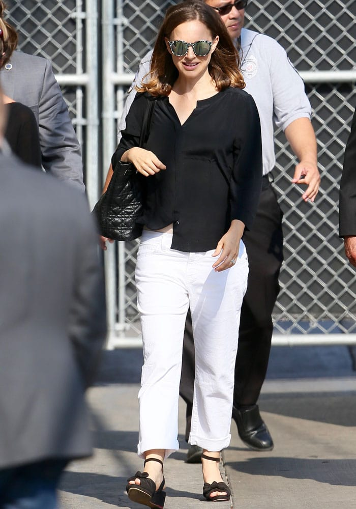 Natalie Portman Jimmy Kimmel Charlotte Olympia 3
