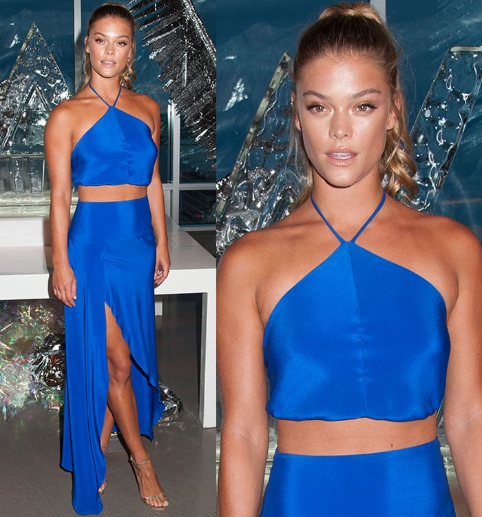 Nina Agdal in Milly top and skirt at W Hotels Dubai Party in New York City on August 17, 2016