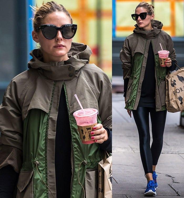 Olivia-Palermo-street-casual-Moncler-jacket-leggings