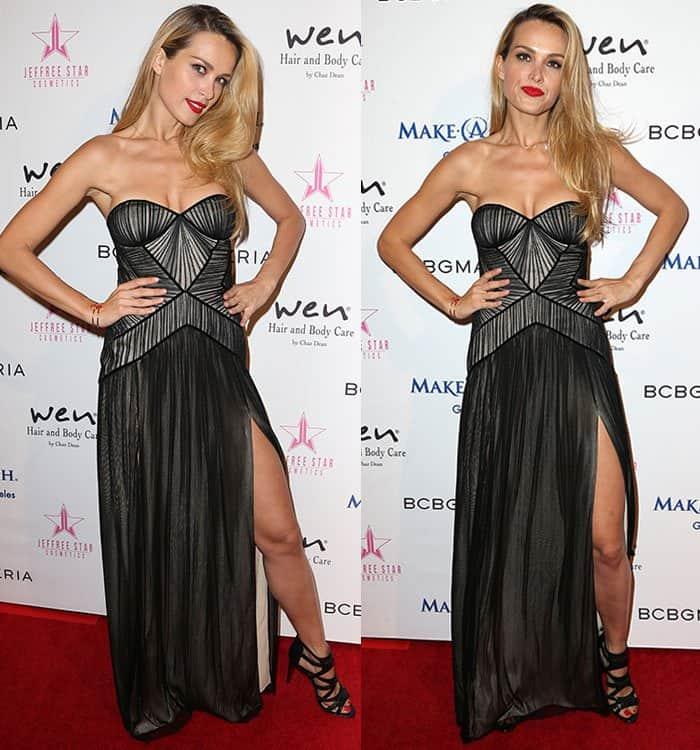 Petra-Nemcova-cleavage-legs-sheer-black-gown