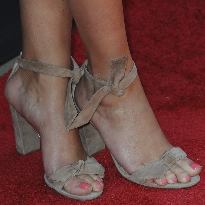 Reese Witherspoon's feet in 'Clarita' ankle tie sandals from Alexandre Birman
