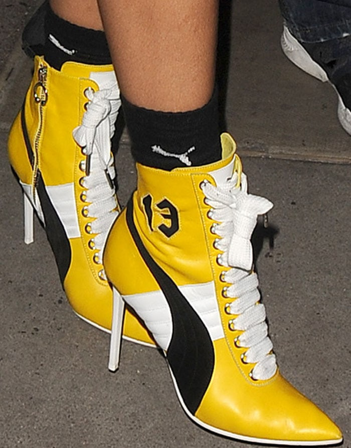the best attitude 8b99a 56c40 Rihanna in Fenty x Puma Boots from Fall 2016 Collection