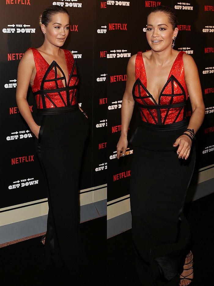 Rita Ora Jean Paul Gaultier corset gown 2