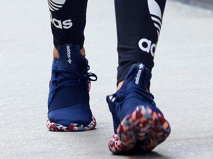 Rita Ora adidas Color Paint Pack Tubular Defiant sneakers 5