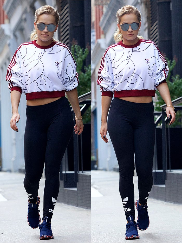 Rita Ora adidas Color Paint Pack outfit 2