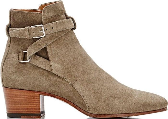 Saint-Laurent-Blake-Khaki-booties