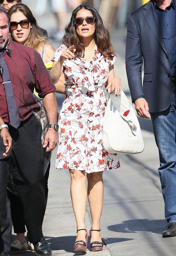 Salma-Hayek-ABC-studios-arrival-Jimmy-Kimmel-Live