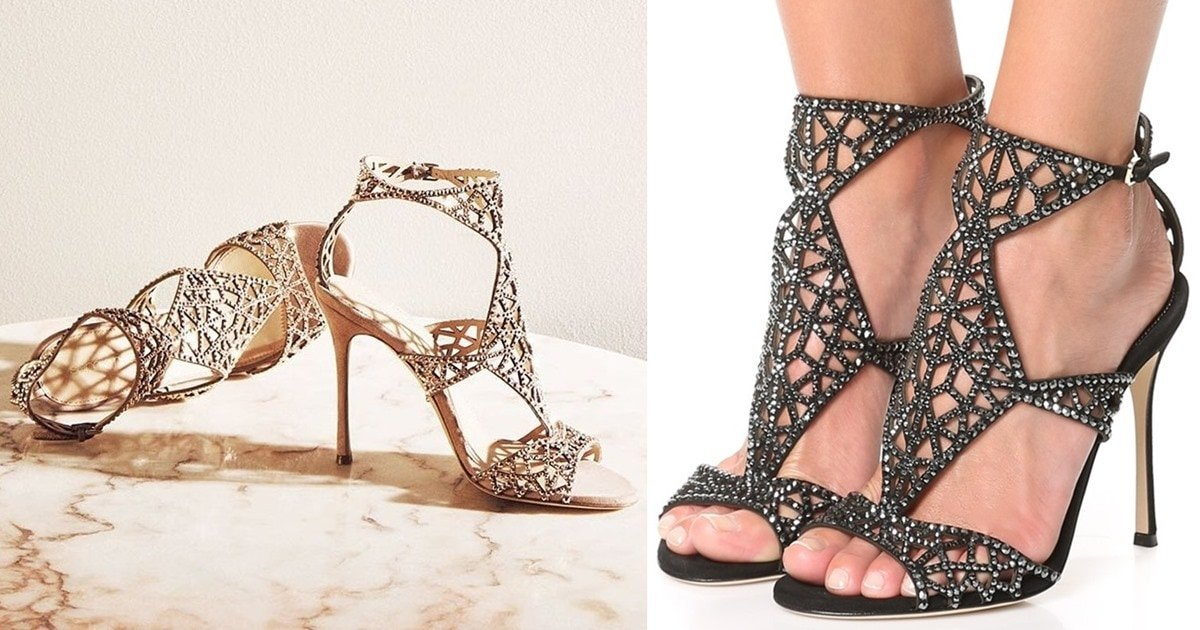 aafc51014 Make a Glamorous Impression with Sergio Rossi s  Tresor  Sandals