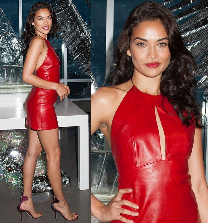 Shanina Shaik attends a party in New York Cityto celebratethe opening of W Dubai on August 17, 2016