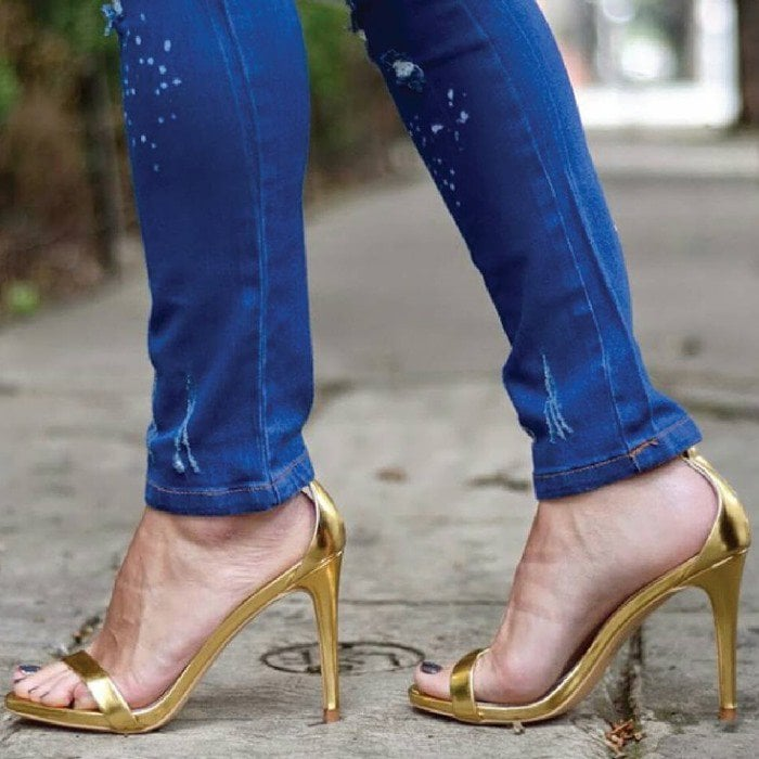 Steve Madden Stecy Gold Sandals