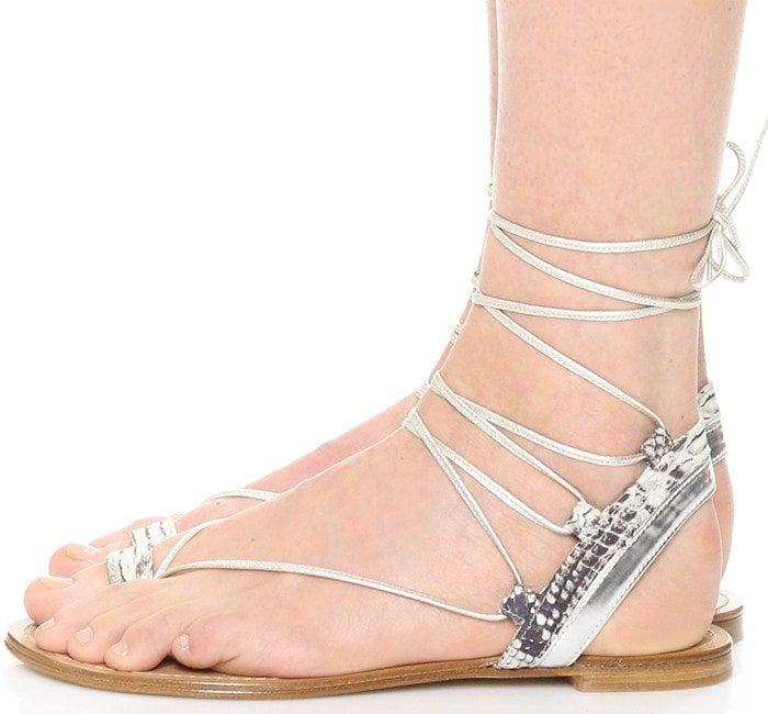 Stuart Weitzman Lasso Flat Sandal