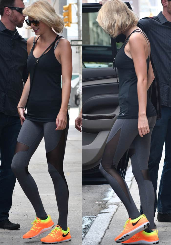 Taylor Swift Goes To The Gym In Nike Tr Focus Sneakers