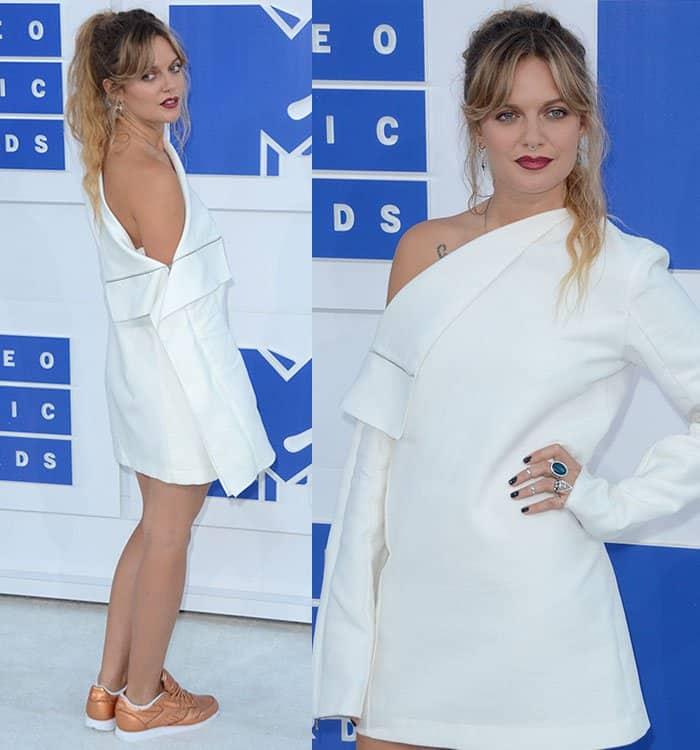 Tove-Lo-Dion-Lee-white-asymmetric-dress