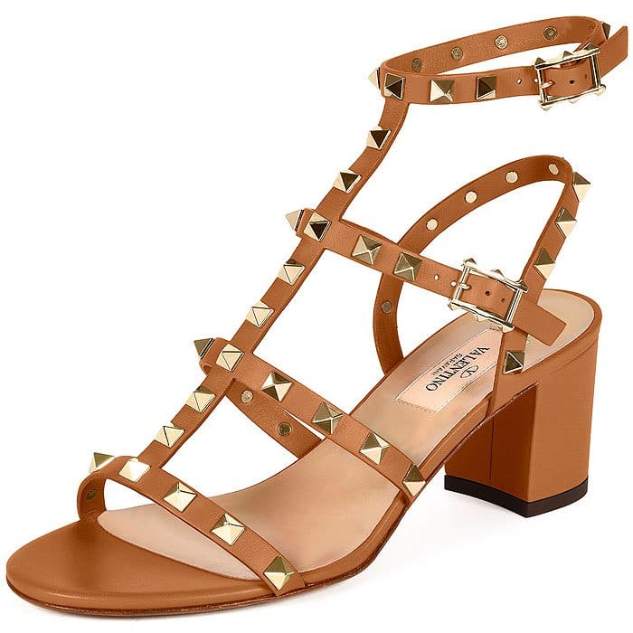 Valentino Rockstud Leather City Sandals