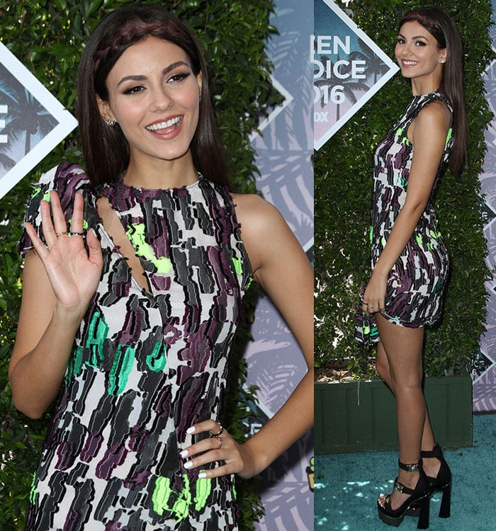 Victoria Justice at the Teen Choice Awards 2016 held at The Forum in Inglewood, California on July 31, 2016