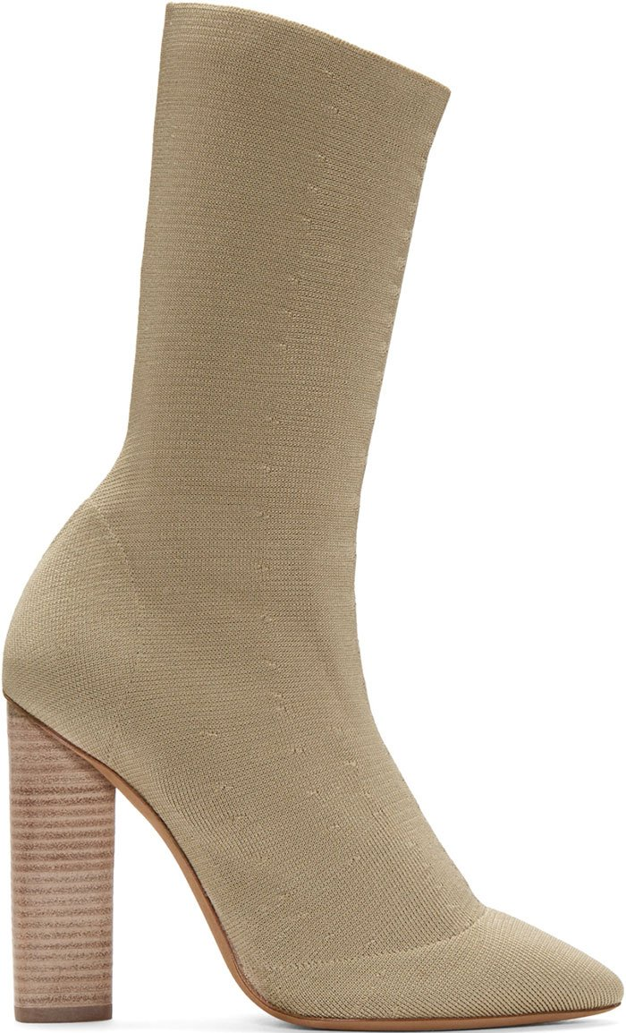 Yeezy Season 2 Beige Knit Booties