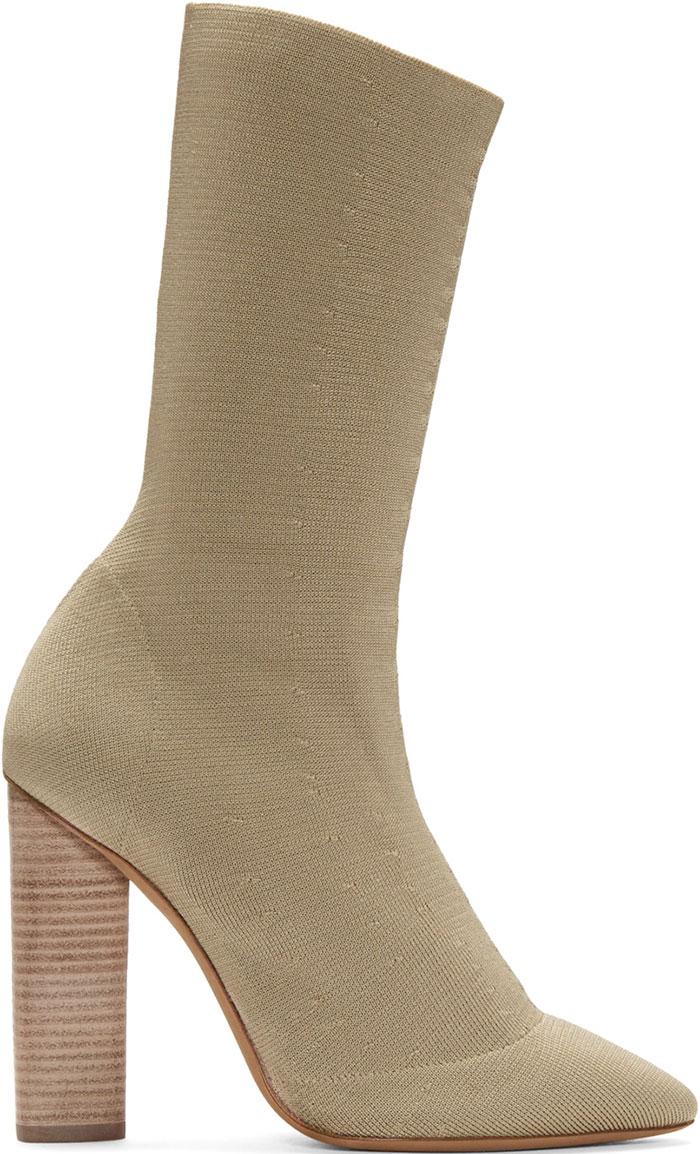 Yeezy-Beige-Knit-Low-Boots