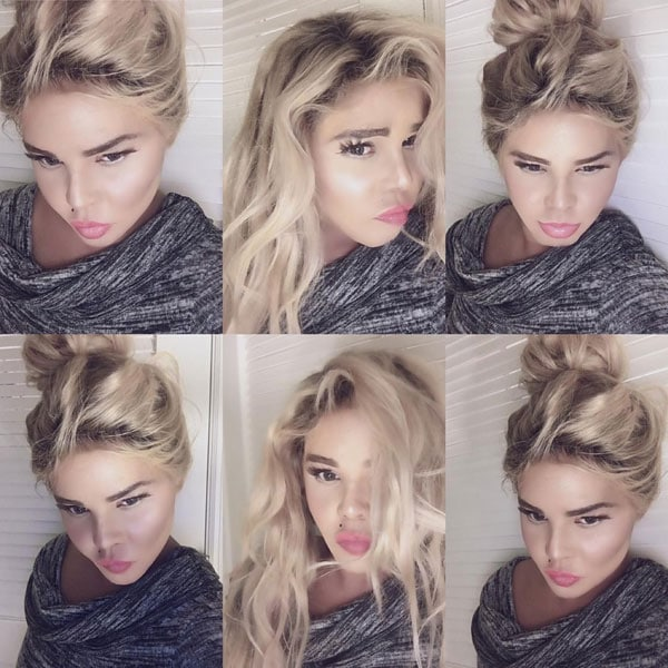 Lil' Kim took to Instagram to flaunt her new look — blonde hair and a lighter complexion