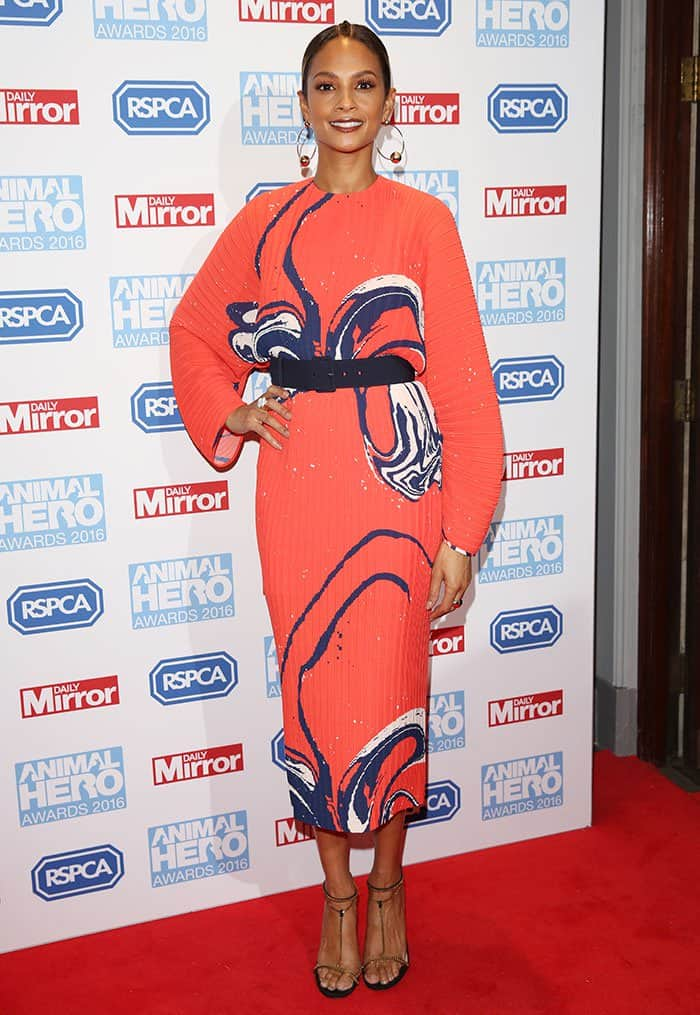 Alesha Dixon at the Animal Hero Awards 2016 held at the Grosvenor House Hotel in London on September 7, 2016