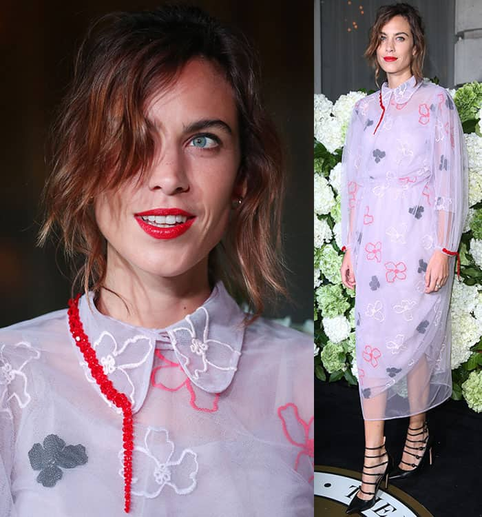 alexa-chung-embroidered-lilac-sheer-dress